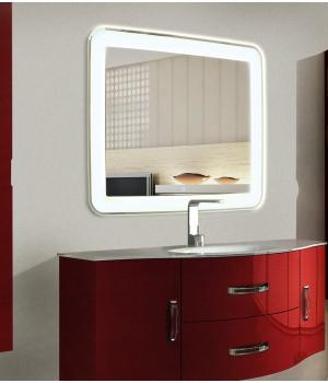 Зеркало для ванной с LED подсветкой Мила 120х60 см (1200х600 мм)